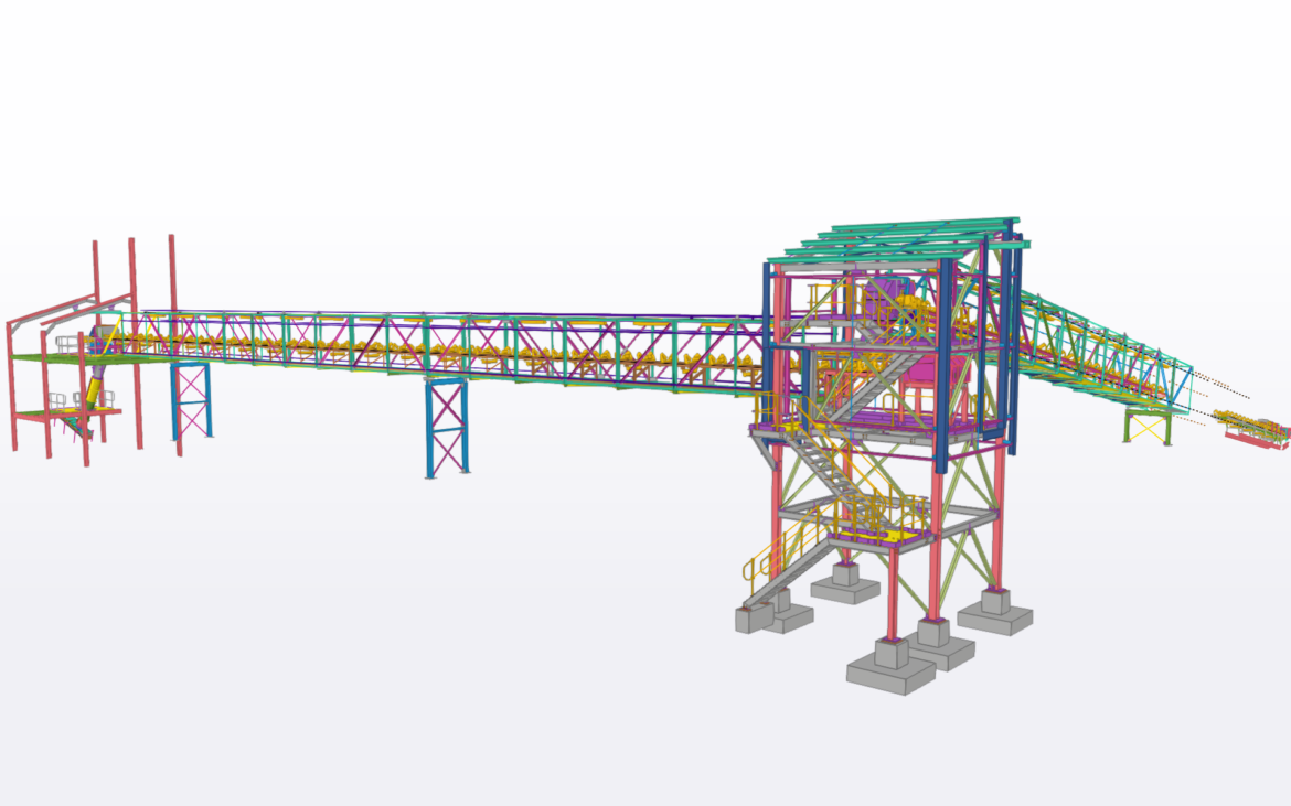 Detailing of Conveyors and Transfer towers, and tie in with 3D Scan of Existing infrastructure