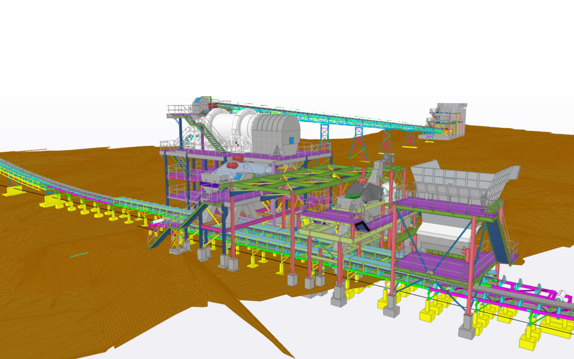 Detailing of Structural Steel of new plant