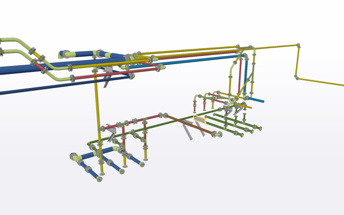 Pipe Layout and detailing for Lime Slaking Plant