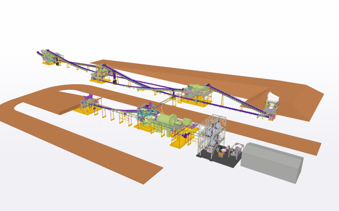Layout and Detailing of Gold Scrubbing, Crushing and Milling Plant