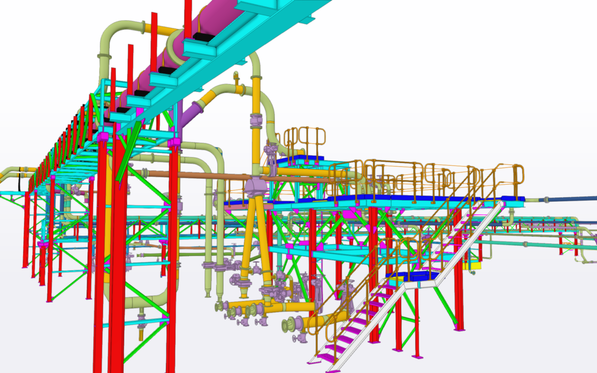 Piping Layout and Detail for Stacker Reclaimers