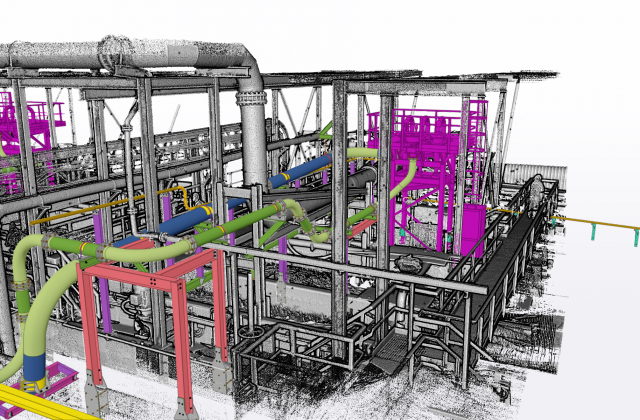 Routing of piping within 3D scan to ensure fast accurate installation